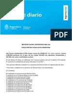 Reporte diario del Ministerio de Salud de la Nación