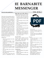 The Barnabite Messenger Vol.38 No.1 - Winter 2008-9