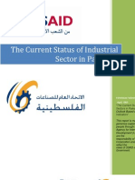 The Current Status of Industrial Sector in Palestine