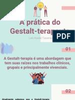 A prática do Gestalt-terapeuta