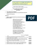 Subiecte limba romana teze unice clasa VIII
