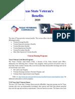 Vet State Benefits - TX 2020
