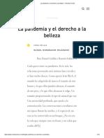 La pandemia y el derecho a la belleza — Revista Común