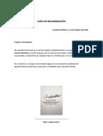 Carta de recomendación Sarre Teresi