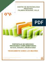 PORTAFOLIO DE FORMACION  COMPLEMENTARIA 2020