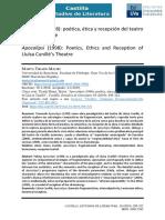Análisis crítico Apocalipsi de Lluisa Cunillé (artículo)