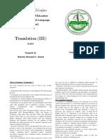 Translatoin III