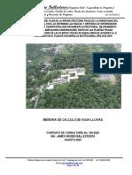 MEMORIA DE CALCULO PLUVIAL - Bloque 21 Unipacifico