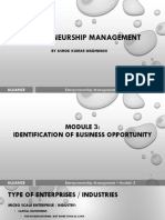 EM - Module 3 - Identification of Business Opportunity  (AU) For Class