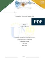 UNIDAD 3 FASE 4, INFORME PSICOLOGICO- JHONNY ADRIAN CORDOBA