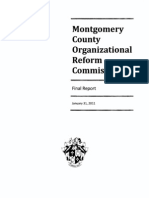 Montgomery County Organizational Reform Commission Final Report Jan 2011
