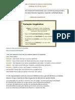 Português - 8 ano (Semana 20 a 24 de julho)