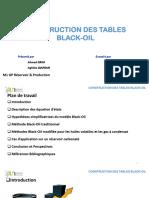 Presentation Table Black-Oil  GRIM DJAFOUR