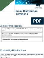 Binomial Distribution Seminar 1 Slides