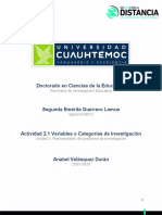 Variables o Categorias de Investigación_Guerrero_Segunda
