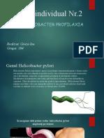 Studiu individual Nr. 2  Helicobacter pylor, profilaxie