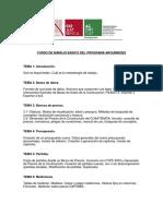 CURSO DE MANEJO BASICO DEL PROGRAMA ARQUIMEDES
