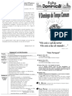 Folha Paroquial Vale S. Martinho (424 - 06 Fevereiro 2011