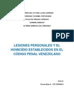 LESIONES PERSONALES Y EL HOMICIDIO