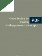 Contribution de l'esprit d'entreprise au développement économique