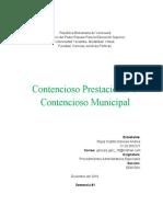 Contencioso Prestacional Y Contencioso Municipal