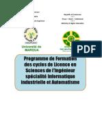 PLAN DE FORMATION LICENCE IIAé
