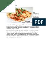 espagettis con salsa de tomate