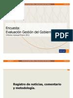 Encuesta Adimark enero 2011