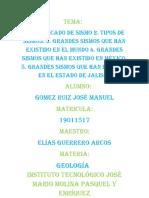 Sismos, tipo de sismos, grandes sismos en el mundo, en México, en Jalisco