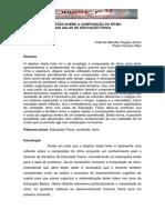 Reflexoes sobre composição do ritmo da aulas de EF