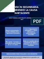 HIPERTENSIÓN SECUNDARIA DESCUBRIENDO LA CAUSA SUBYACENT.
