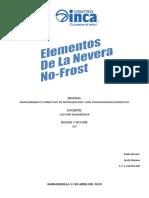 Elementos de la nevera No-Frost - Jordy Mariano INCA REFRIGERACION COD. 107