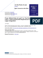 Přibáň, J. (2009). From Which Rule of Law to The Rule of Which Law -  Post-Communist Experiences of European Legal Integration