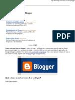 Como criar Blog Blogger