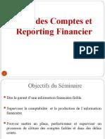 Audit des Comptes et Reporting