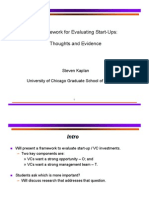 VC Framework Evaluating Start Ups Kaplan