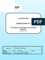 lab07 circuitos AC paralelo MultisimLive propuesta