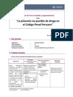 GUIA Y RUBRICA FORO DE DEBATE Y ARGUMENTACION - DERECHO PENAL III.doc