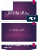 GENERALIDADES DE LA INVETIGACION DE MERCADOS