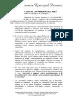 COMUNICADO DE LOS OBISPOS DEL PERU