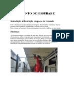 TRATAMENTO DE FISSURAS E JUNTAS