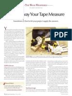 Throw Away Tape Measure