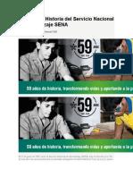 59 años de Historia del Servicio Nacional de Aprendizaje SENA
