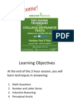Test-taking for College Entrance Tests