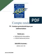 analyse granulometrique par sedimentation (mds)