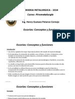 Clase Nº 8 Escorias - Conceptos y funciones