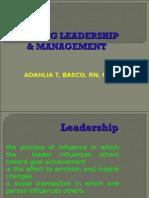 NCM 105 Nursing Leadership and Management