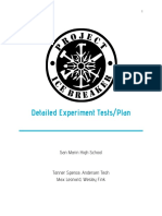 detailed experiments tests plan and set-up