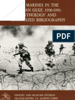 The Marines in the Persian Gulf 1990-1991 Anthology and Annotated Bibliography