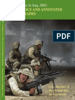 U.S. Marines in Iraq 2003 Anthology and Annotated Bibliography